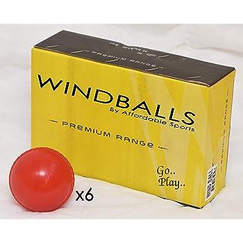 Gelb, Cricket Qualität Wind Ball Senior 156ml Outdoor-Training Match-Pink