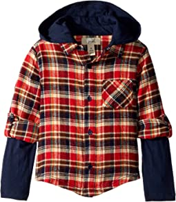 PEEK - Ace Plaid Hoodie (Toddler/Little Kids/Big Kids)