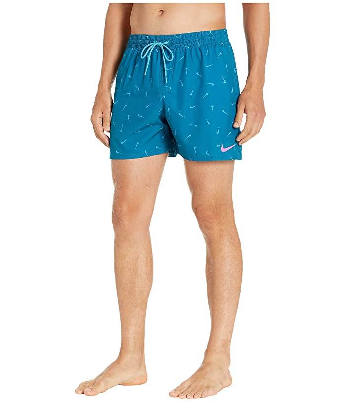 Nike  5 Confetti Lap Volley Shorts (Green Abyss) Mens Swimwear