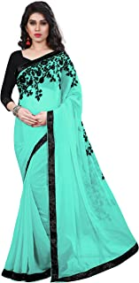 TRYme Fashion Georgette Saree With Blouse Piece