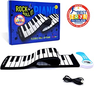 MukikiM Rock And Roll It - Piano. Flexible, Completely Portable, 49 standard Keys, battery OR USB powered. 2016 ASTRA Best Toy for Kids Award Winner!