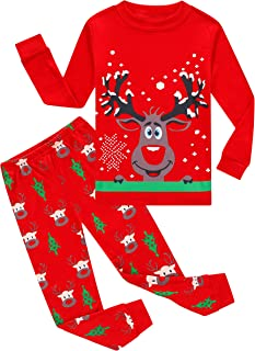 Image of Cozy Funny Reindeer Christmas Pajama Sets for Boys and Toddler Boys - See More Prints