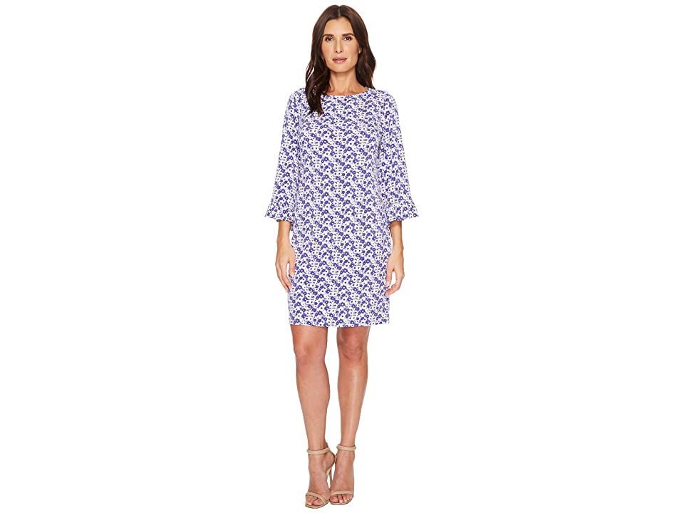 MICHAEL Michael Kors Carnation Flare Sleeve Dress (Amethyst/Light Quartz Multi) Women