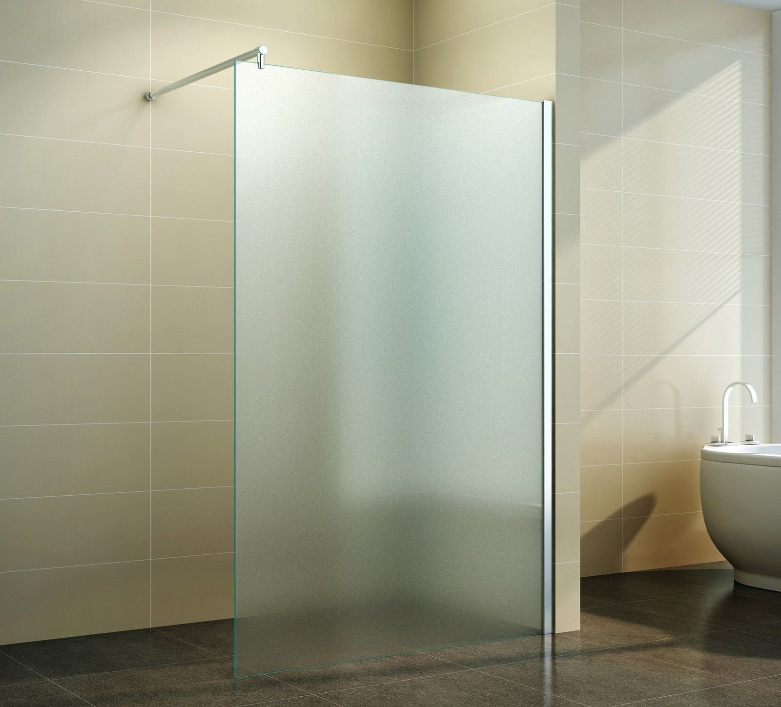 Walk-in mampara de ducha de leche 40 - 160 cm completa de satén 10 ...