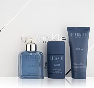 Calvin Klein 3 Piece Eternity for Men Aqua Gift Set
