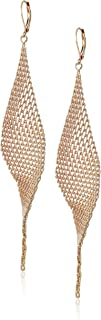 Kenneth Cole Women's Twist Mesh Drop Earrings, Rose Gold, One Size