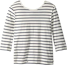 Roxy Kids - Fields of Heaven Stripes Tee (Big Kids)