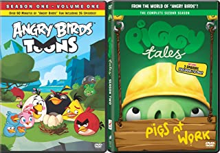 Piggy Tales 2 & Angry Birds Toons Season One Animated DVD Set 26 Cartoon + Bonus Episodes Minion Pig Set