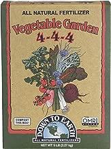 Down to Earth Organic Vegetable Garden Fertilizer 4-4-4, 5lb