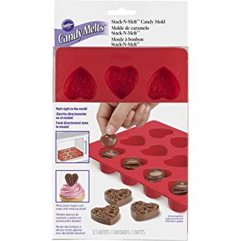 Wilton Mini Hearts Silicone Mold, 12-Cavity - Heart Shaped Mold