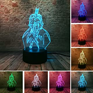 New 3D Action Figure IR 7 Colors Gradient Hero Batman Remote Control Visual LED Illusion Night Lights Bedroom Table Desor Child Friend Birthday Gifts (Batman)