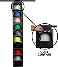 Boxy Concept Hat Rack - 10 Shelf Hat Organizer for Baseball Caps and Hats with Dust Shield - Keep Your Hats in Shape, Dust...