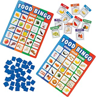 Fun Express Food Recognition Bingo (Includes 32 Game Cards) Classroom Teaching Aids