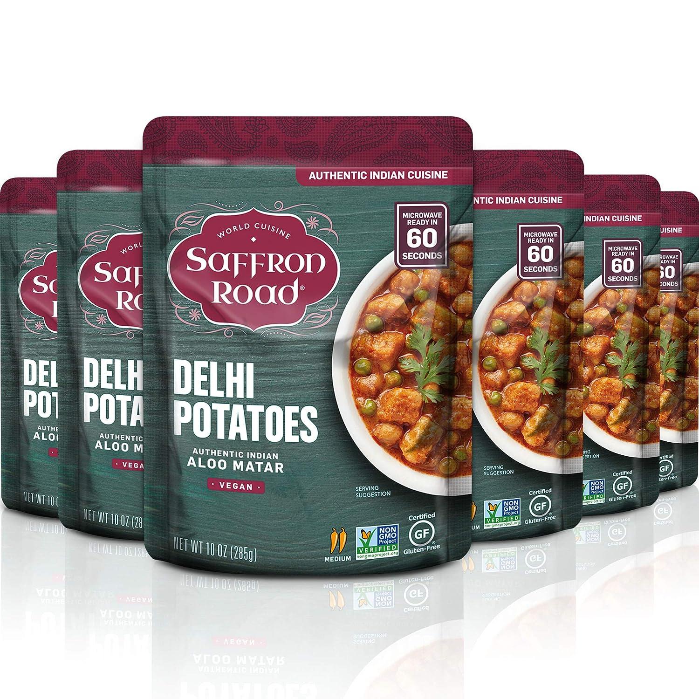 Saffron Road Delhi Potatoes Popular products Meal 70% OFF Outlet Pouch Gluten - Vegan Non Free