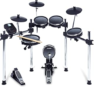 Alesis Surge Mesh Kit - Eight-Piece Electronic Drum Kit with Mesh Heads, 40 Kits, 385 Sounds, 60 Play-Along Tracks, USB/MI...
