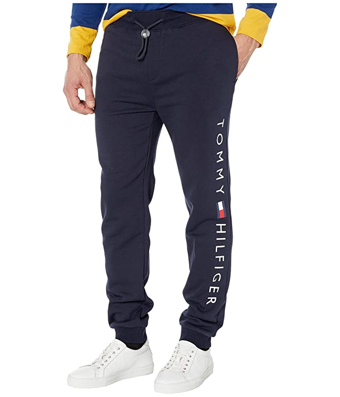 Tommy Hilfiger Adaptive  Icon Stripe Jogger Pant (Sky Captain) Mens Casual Pants
