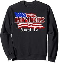 Ironworkers Local 40 NYC American Flag Patriotic  Sweatshirt