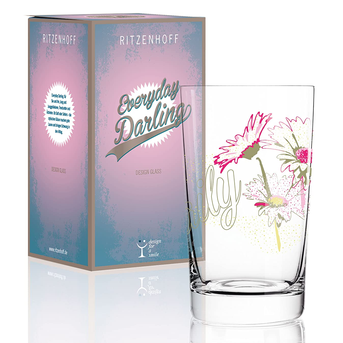 Ritzenhoff 3270012?Everyday Darling Softdrinkglas, 7.3?x 7.3?x 5?cm Multicoloured