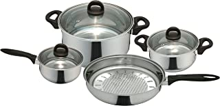 Priminute Bohemia Stainless Steel 7 pieces Cookware Set
