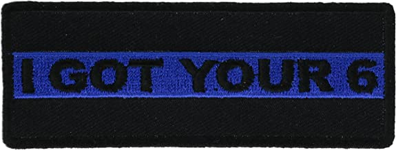 I Got Your 6 Thin Blue Line 1 1/2 x 4 inch Patch IVANP5237