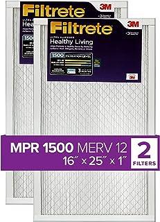 Filtrete 16x25x1, AC Furnace Air Filter, MPR 1500,...