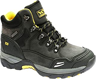 Mens WOOD WORLD Leather Waterproof Safety Steel Toe Cap Hiker Work Boots SZ 6-13
