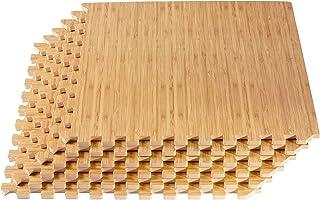 New Forest Floor 3/8 Inch Thick Printed Foam Tiles, Premium Wood Grain Interlocking Foam Floor Mats, Anti-Fatigue Flooring...