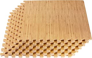 Forest Floor Thick Printed Foam Tiles, Premium Wood Grain Interlocking Foam Floor Mats, Anti-Fatigue Flooring, 5/8