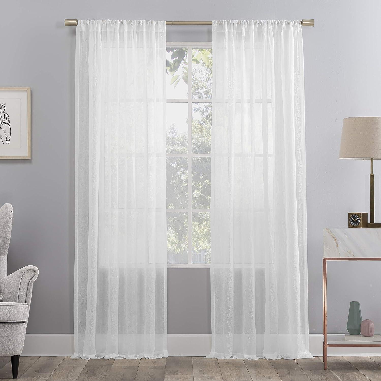 No. 918 Regular store Genevieve 2-Pack Linen Grommet Rapid rise Curtain Weave Semi-Sheer