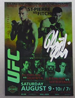 Heath Herring Signed UFC 2009 Topps UFC 87 Poster Card Autograph vs Brock Lesnar - Autographed UFC Cards