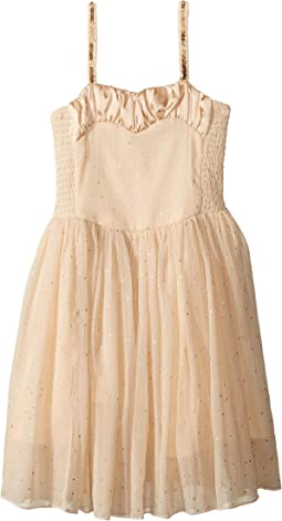 Sweetie Dress w/ Gold Polka Dots & Sequined Straps (Toddler/Little Kids/Big Kids)
