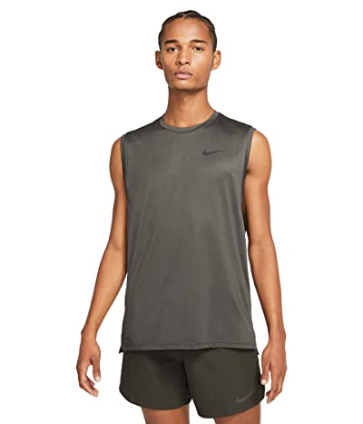 Nike Top Tank Hyper Dry (Sequoia/Black/Heather/Black) Men