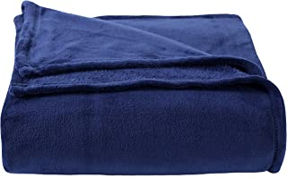 Berkshire Blanket Plush Serasoft Polartec Warmth Technology Bed Blanket, Full/Queen, Navy