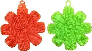 JJMG New Multipurpose Antibacterial Silicone Scrub Scrubber Sponge for Dishwashing, Make up Brush Cleaner l...