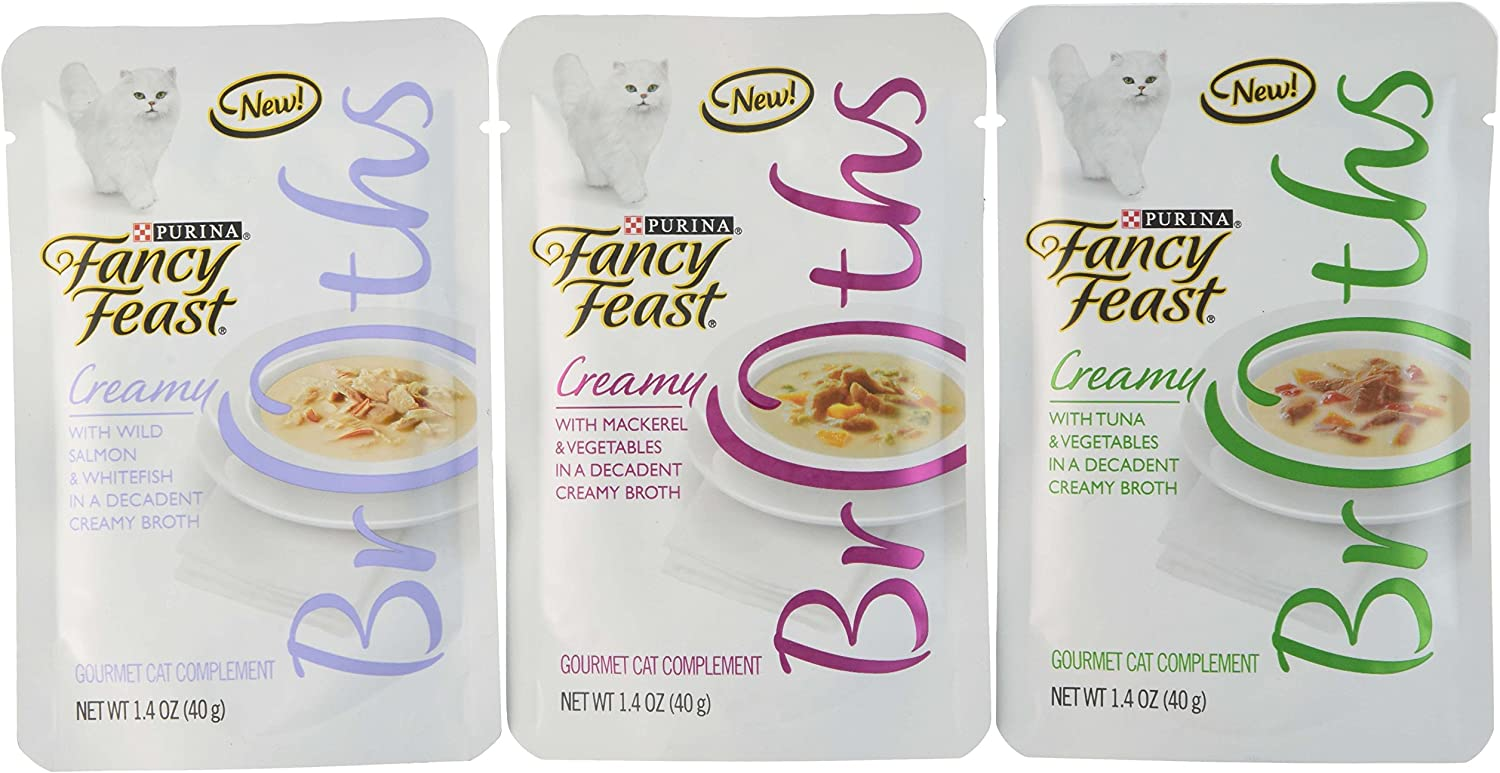 Purina Fancy Feast Bredhs Creamy VPack Food, 3 by 16.8 oz.