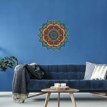 Adesivo de Parede para Sala Mandala Azul Turquesa