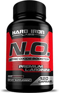Nitric Oxide Supplement - Nitric Oxide Booster 1300mg - L Arginine & L Citrulline for Muscle Building, Vascularity, Pumps, Energy, Heart Health - Increase Blood Flow NO Booster Pre - 120 Capsules