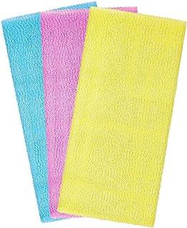 Arch & M - Toalla exfoliante de microfibra de nailon japonés, toalla de baño, toalla coreana exfoliante para el cuerpo, to...