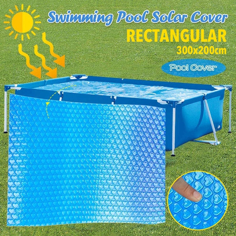 kindly Solarplane Pool Rechteckig Solarabdeckplane F/ür Rectangular Frame Pool//Aufblasbar Family Pool Umweltfreundliches Und Sparsames Aufheizen des Wassers Durch Sonnenenergie