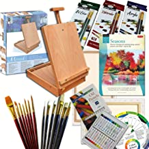 Artist Quality Full Size Table Easel Art Set Complete All Media Painting Supplies & More