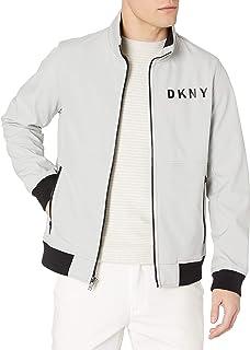 DKNY Stand Collar Softshell Track Bomber Jacket