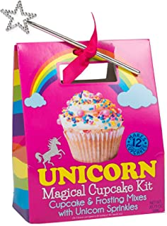 Unicorn Magical Cupcake Mix and Sprinkles with Star Wand Carry Out Box Set