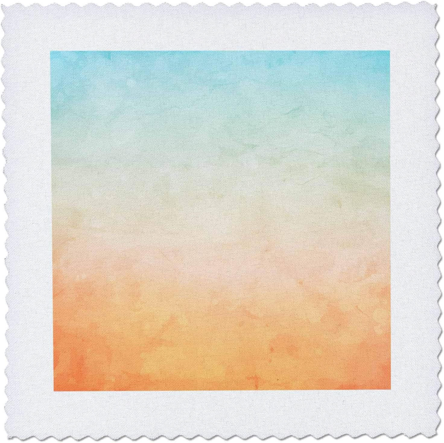 3dRose Direct sale of manufacturer Pretty Aqua 2021 autumn and winter new Green To Orange Image Of Abs Ombre Watercolor