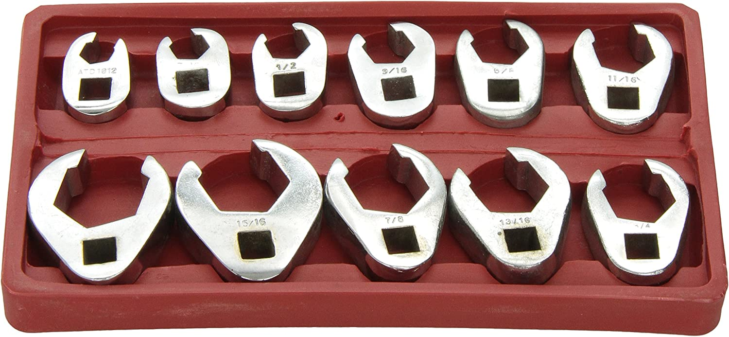 ATD Great interest Tools 1090 11-Piece Crowfoot Wrench SAE Purchase Set