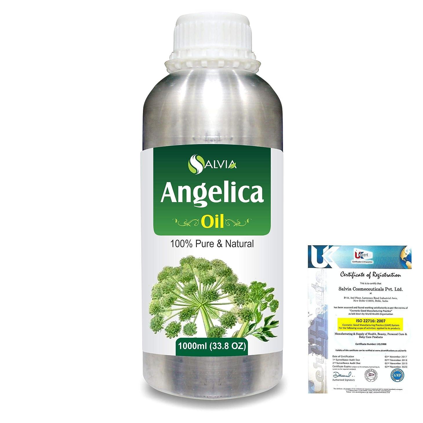 眉をひそめる暖かく飛行機Angelica (Angelica archangelica) 100% Natural Pure Essential Oil 1000ml/33.8fl.oz.