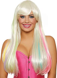 Long Straight Hidden Rainbow Wig (Platinum)