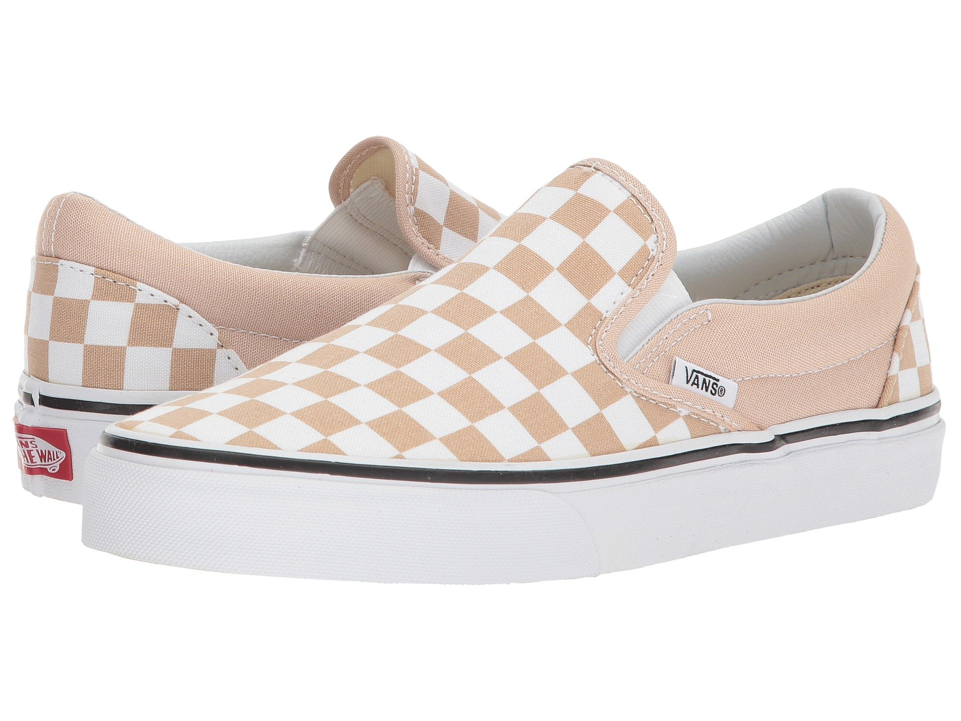 Classic Slip-On™, (Checkerboard) Frappe/True White