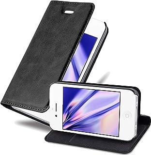 Cadorabo Funda Libro para Apple iPhone 4 / 4S en Negro Antracita - Cubierta Proteccíon con Cierre Magnético, Tarjetero y Función de Suporte - Etui Case Cover Carcasa