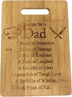 Recipe for a Dad Cute Funny Laser Engraved Bamboo Cutting Board - Wedding, Housewarming, Anniversary, Birthday, Father's Day, Gift