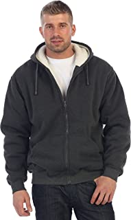 Men and Women Heavyweight Sherpa Lined Fleece Hoodie Jacket